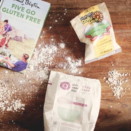 Enid Blyton Five Go Gluten Free, Daily Fresh Almond Flour, Dove's Farm Plain White Flour Free From Gluten
