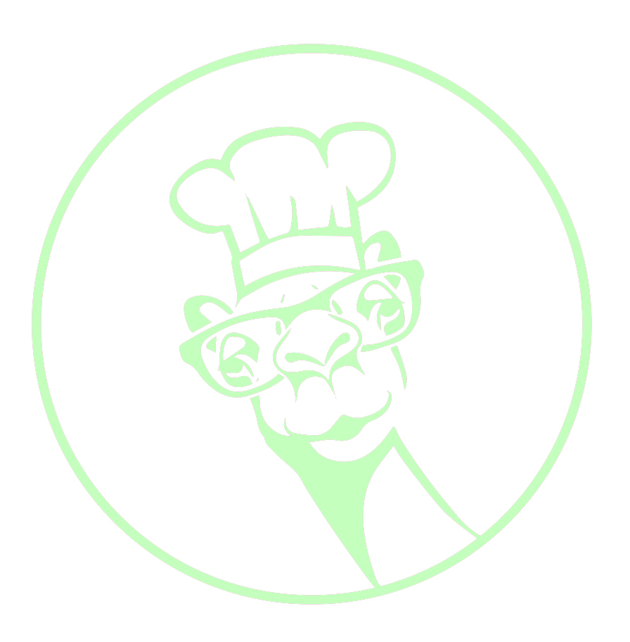 middle eats logo, camel, glasses, chefs hat, middle eats